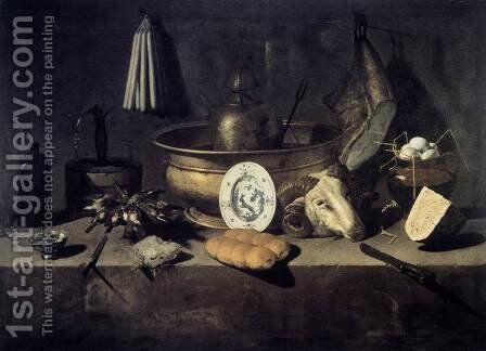 Still-Life with a Head of a Ram 2 by Giuseppe Recco - Reproduction Oil Painting