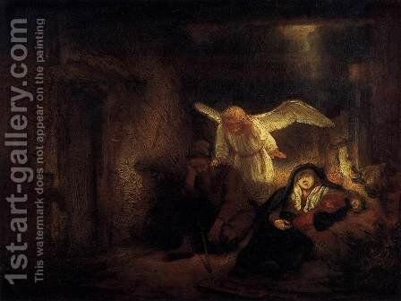 Joseph's Dream by Rembrandt - Reproduction Oil Painting