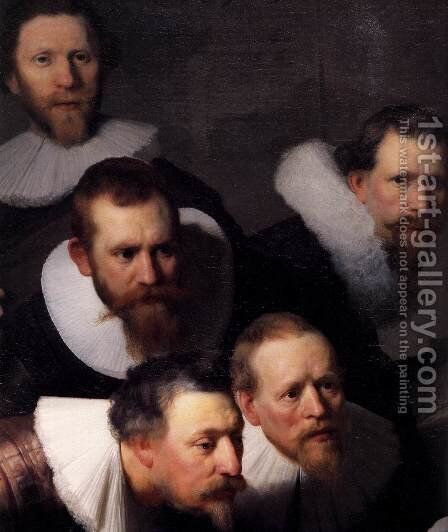 The Anatomy Lecture of Dr. Nicolaes Tulp (detail) by Rembrandt - Reproduction Oil Painting