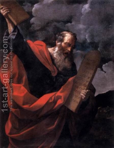 Moses with the Tables of the Law by Guido Reni - Reproduction Oil Painting