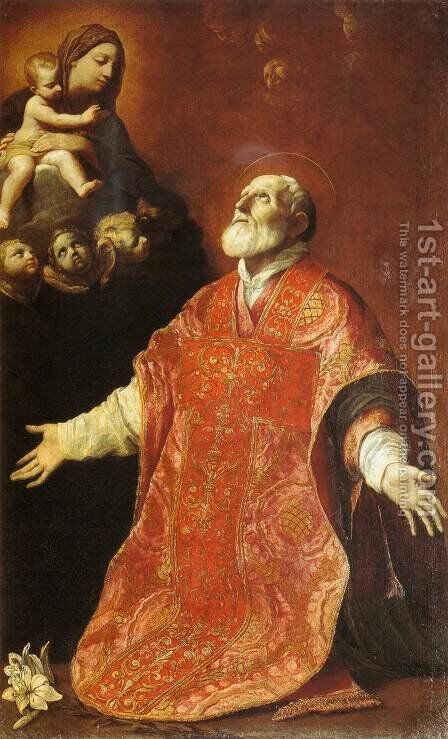 St Filippo Neri in Ecstasy by Guido Reni - Reproduction Oil Painting