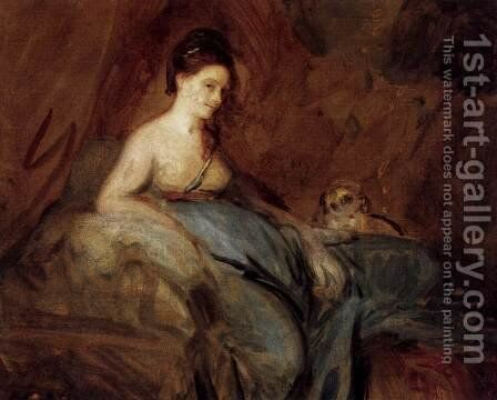 The Actress Kitty Fisher by Sir Joshua Reynolds - Reproduction Oil Painting