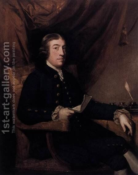Mr. James Bourdieu by Sir Joshua Reynolds - Reproduction Oil Painting