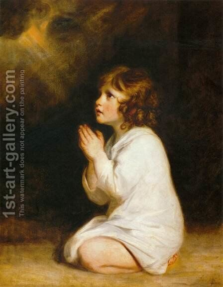 The Infant Samuel by Sir Joshua Reynolds - Reproduction Oil Painting
