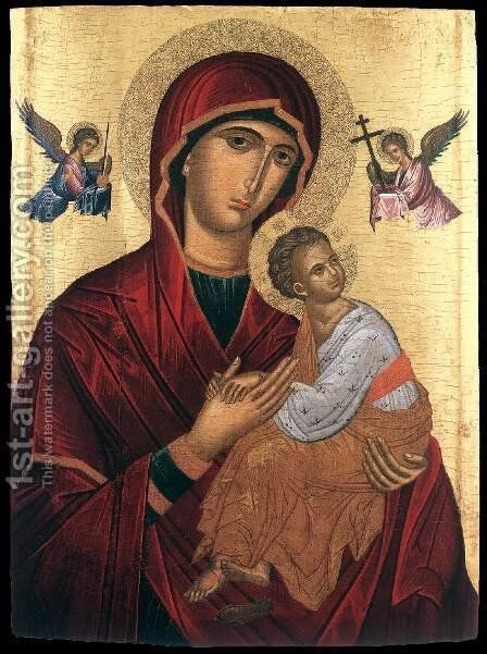 The Mother of God of Passion by Andreas Ritzos - Reproduction Oil Painting