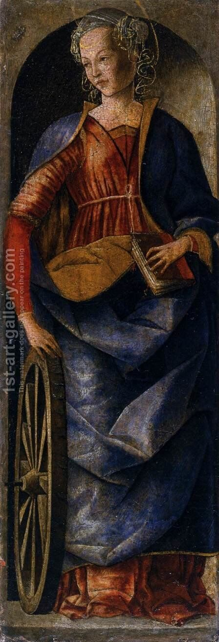 Griffoni Polyptych St Catherine of Alexandria by Ercole de' Roberti - Reproduction Oil Painting