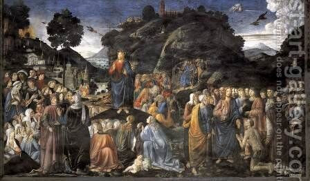 Sermon on the Mount 2 by Cosimo Rosselli - Reproduction Oil Painting