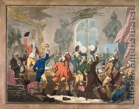 Dinner by Thomas Rowlandson - Reproduction Oil Painting