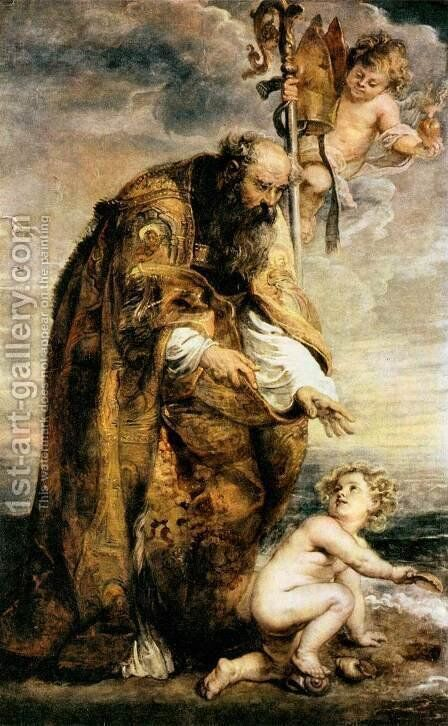 St Augustine by Rubens - Reproduction Oil Painting