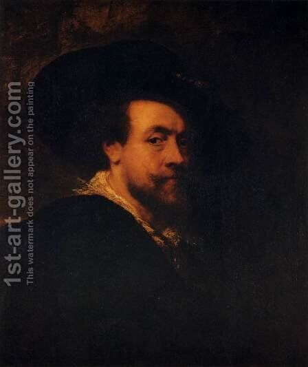 Self-Portrait with a Hat by Rubens - Reproduction Oil Painting