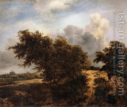 The Thicket (Path in the Haarlem Dunes) by Jacob Van Ruisdael - Reproduction Oil Painting