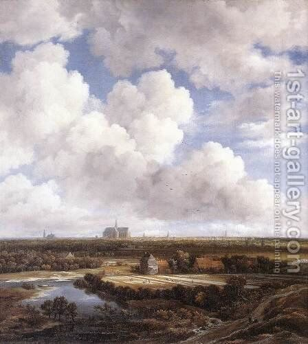 View of Haarlem with Bleaching Grounds by Jacob Van Ruisdael - Reproduction Oil Painting