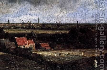 Landscape with a View of Haarlem (detail) by Jacob Van Ruisdael - Reproduction Oil Painting