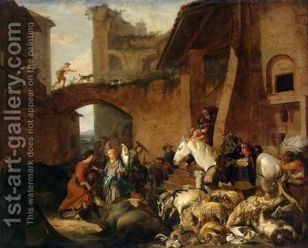 Story of Tobias by Carl Borromaus Andreas Ruthart - Reproduction Oil Painting
