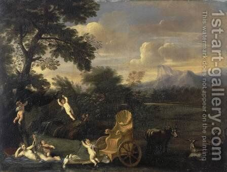 Venus at Rest by Andrea Sacchi - Reproduction Oil Painting