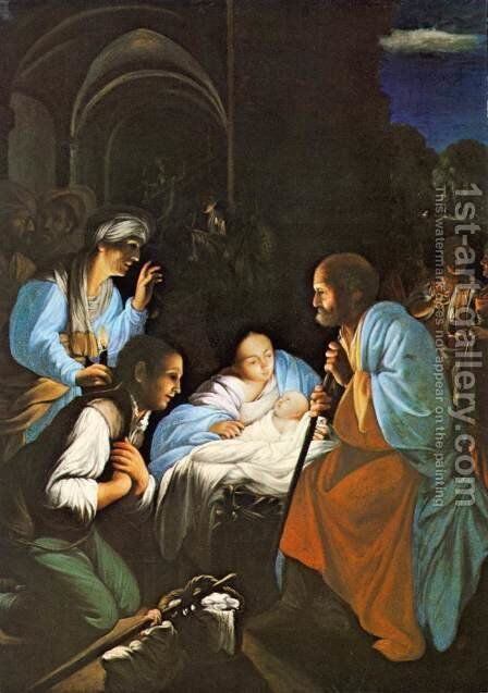 The Birth of Christ 2 by Carlo Saraceni - Reproduction Oil Painting