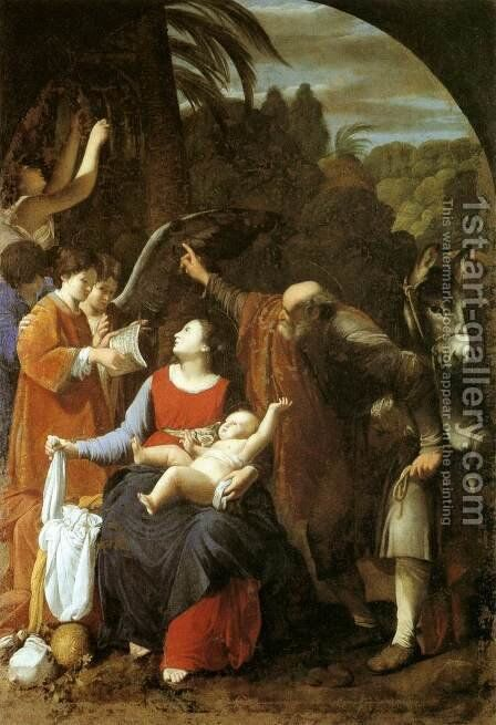 The Rest on the Flight into Egypt by Carlo Saraceni - Reproduction Oil Painting