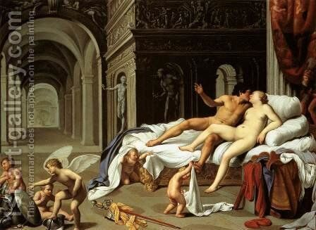 Venus and Mars by Carlo Saraceni - Reproduction Oil Painting
