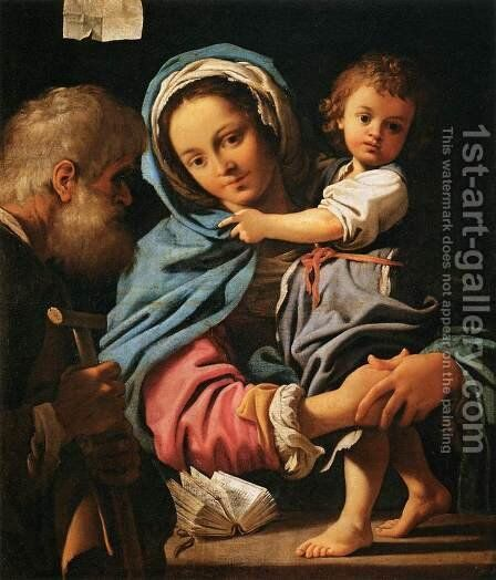 The Holy Family by Bartolomeo Schedoni - Reproduction Oil Painting