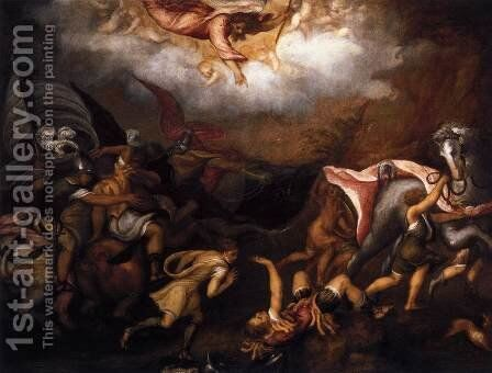 Conversion of Saul by Andrea Schiavone - Reproduction Oil Painting