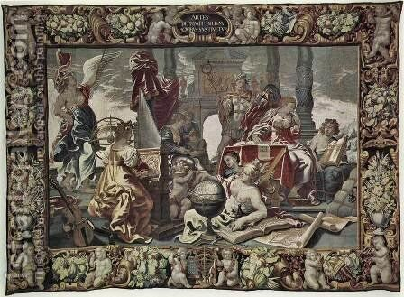 The Seven Liberal Arts by Cornelius I Schut - Reproduction Oil Painting
