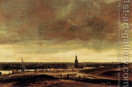 View of Rhenen by Hercules Seghers - Reproduction Oil Painting