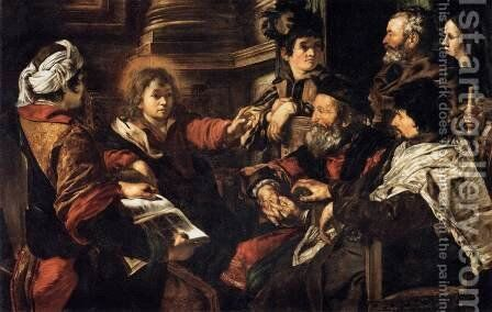 Christ among the Doctors by Giovanni Serodine - Reproduction Oil Painting