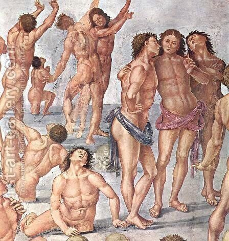 Resurrection of the Flesh (detail) 2 by Luca Signorelli - Reproduction Oil Painting