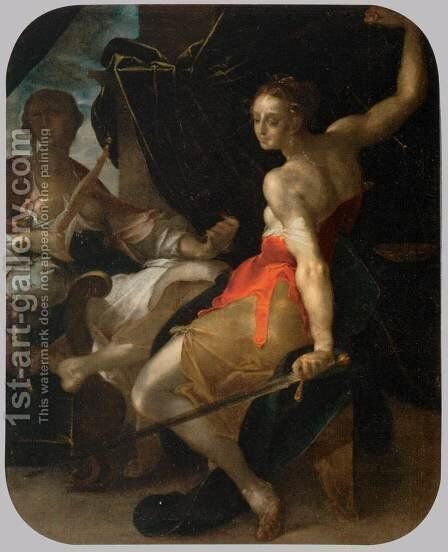 Allegory of Justice and Prudence by Bartholomaeus Spranger - Reproduction Oil Painting