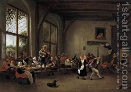Country Wedding by Jan Steen - Reproduction Oil Painting
