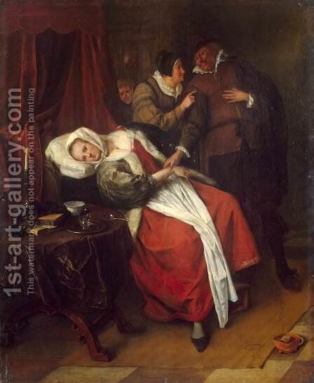 The Doctor's Visit 2 by Jan Steen - Reproduction Oil Painting