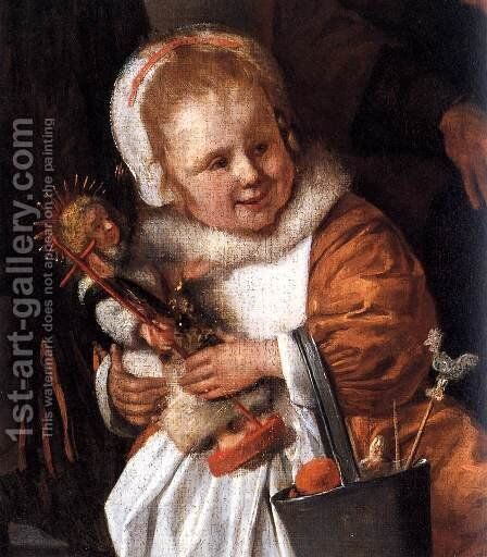 The Feast of St. Nicholas (detail) by Jan Steen - Reproduction Oil Painting