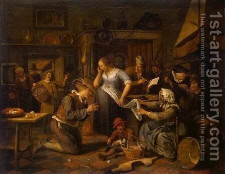 Marriage Contract by Jan Steen - Reproduction Oil Painting