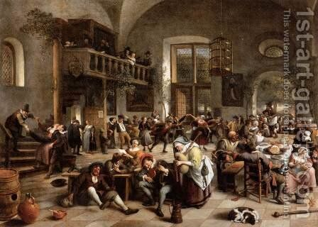 Revelry at an Inn by Jan Steen - Reproduction Oil Painting
