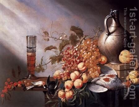 Still-Life of Fruit and Dead Fowl by Harmen Steenwijck - Reproduction Oil Painting