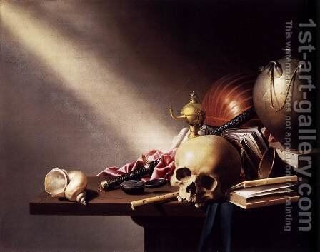 Vanitas Still-Life by Harmen Steenwijck - Reproduction Oil Painting