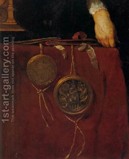 Portrait of a Knight (detail) by Bernardo Strozzi - Reproduction Oil Painting