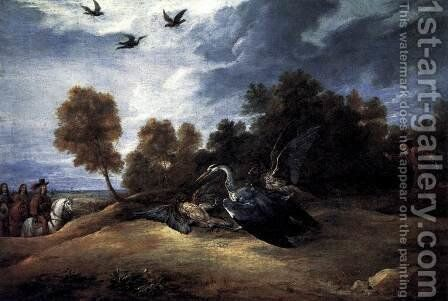 Heron Hunting with the Archduke Leopold Wilhelm by David The Younger Teniers - Reproduction Oil Painting