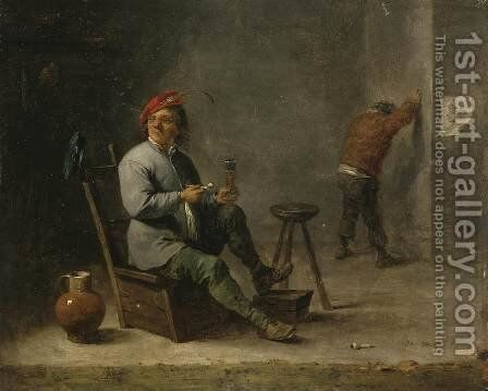 Smoker by David The Younger Teniers - Reproduction Oil Painting