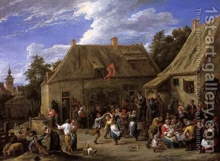 Country Kermis by David The Younger Teniers - Reproduction Oil Painting
