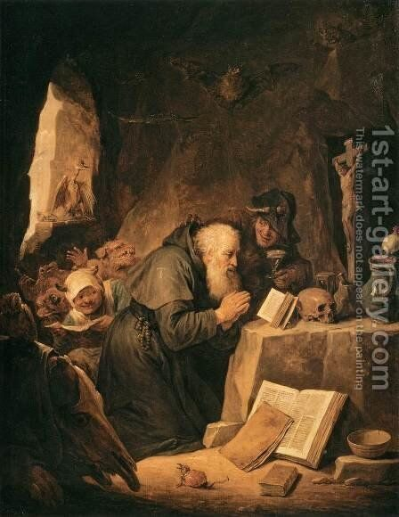 The Temptation of St Anthony by David The Younger Teniers - Reproduction Oil Painting