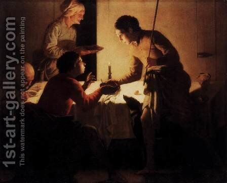 Esau Selling His Birthright by Hendrick Terbrugghen - Reproduction Oil Painting