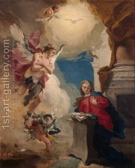 Annunciation by Giovanni Battista Tiepolo - Reproduction Oil Painting
