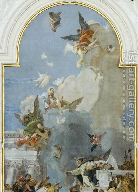 The Institution of the Rosary (detail) by Giovanni Battista Tiepolo - Reproduction Oil Painting