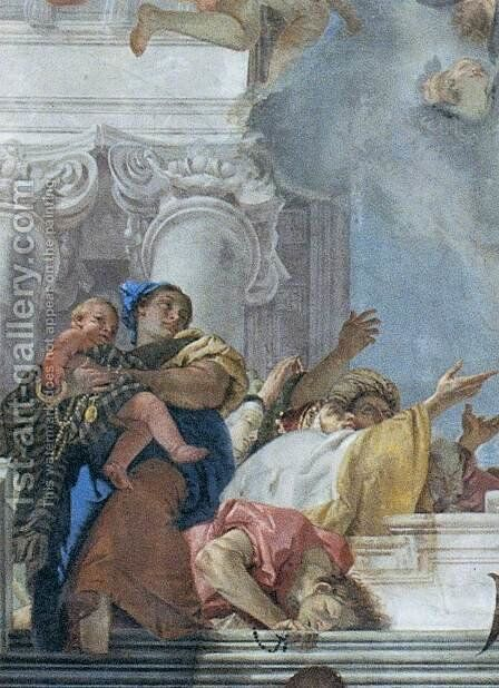 The Institution of the Rosary (detail) 2 by Giovanni Battista Tiepolo - Reproduction Oil Painting
