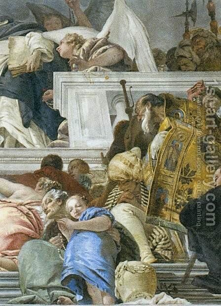The Institution of the Rosary (detail) 3 by Giovanni Battista Tiepolo - Reproduction Oil Painting