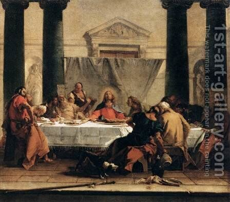 The Last Supper by Giovanni Battista Tiepolo - Reproduction Oil Painting
