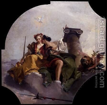 Fortitude and Justice 2 by Giovanni Battista Tiepolo - Reproduction Oil Painting