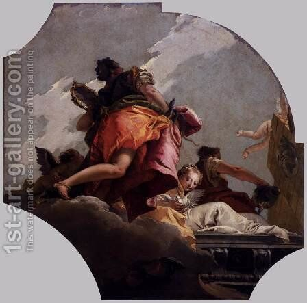 Prudence, Sincerity, and Temperance 2 by Giovanni Battista Tiepolo - Reproduction Oil Painting