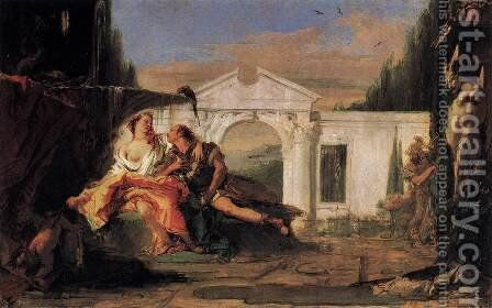 Rinaldo and Armida 4 by Giovanni Battista Tiepolo - Reproduction Oil Painting